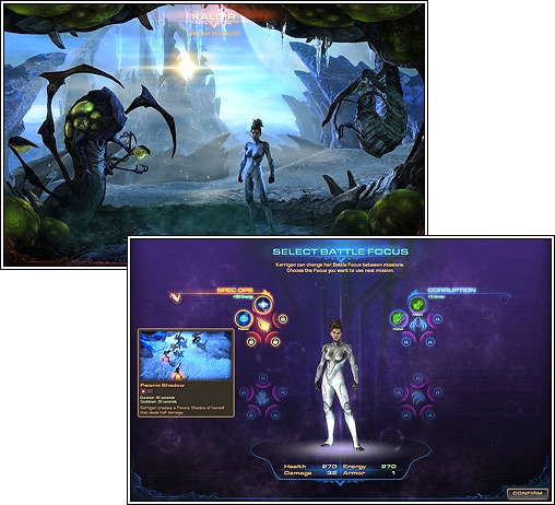 Campagne de heart of the swarm : personnalisation de Kerrigan